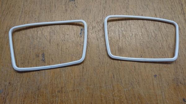 Halterahmen weiß Spiegelglas Trapetzspiegel BMW Baureihen E10 E3 E9 Neue Klasse NEU