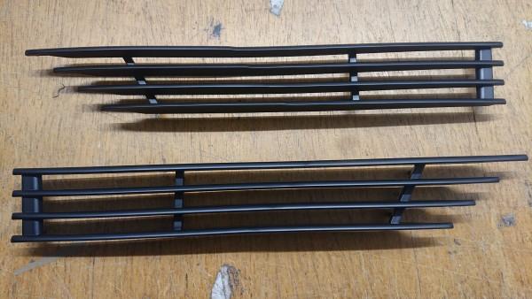 Ziergitter Kotflügel Satz schwarz BMW Baureihe E9 2,5-3,0 CSi CSL !