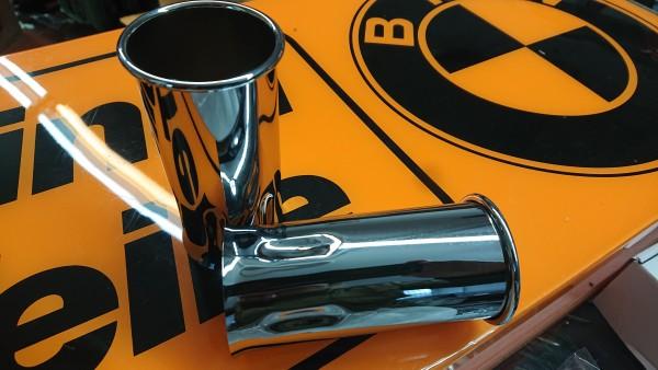 Auspuff Endrohrblende Chrom 46mm BMW /02 E10 E21 E12 E30 NEU !