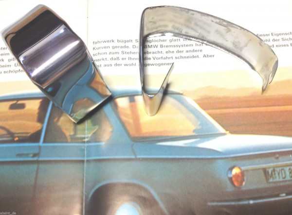 BMW /02 1602-2002 ti Cabrio Turbo Stossstangenblende hinten schmal Satz neu !!